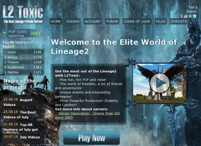 L2Toxic.com - THE BEST LINEAGE2 SERVERS!